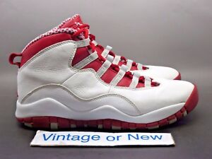 best authentic b0536 b690d Image is loading Nike-Air-Jordan-X-10-Cherry-Retro-GS-