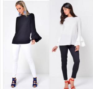 Womens-Blouse-Shirts-Tops-Ladies-Long-Sleeve-Boho-Casual-John-Zack-UK