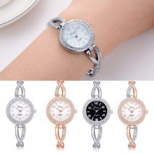 Elegant-Women-039-s-Rhinestone-Bracelet-Watch-Fashion-Ladies-Dress-Quartz-Watches