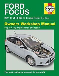 haynes owners workshop manual ford focus petrol diesel 11 14 rh ebay com au Small Engine Repair Manuals Ford Engine Repair Manual
