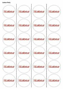 EDIBLE WAFER PAPER CUPCAKE 24X PRECUT LABOUR PARTY CAKE TOPPERS 1132