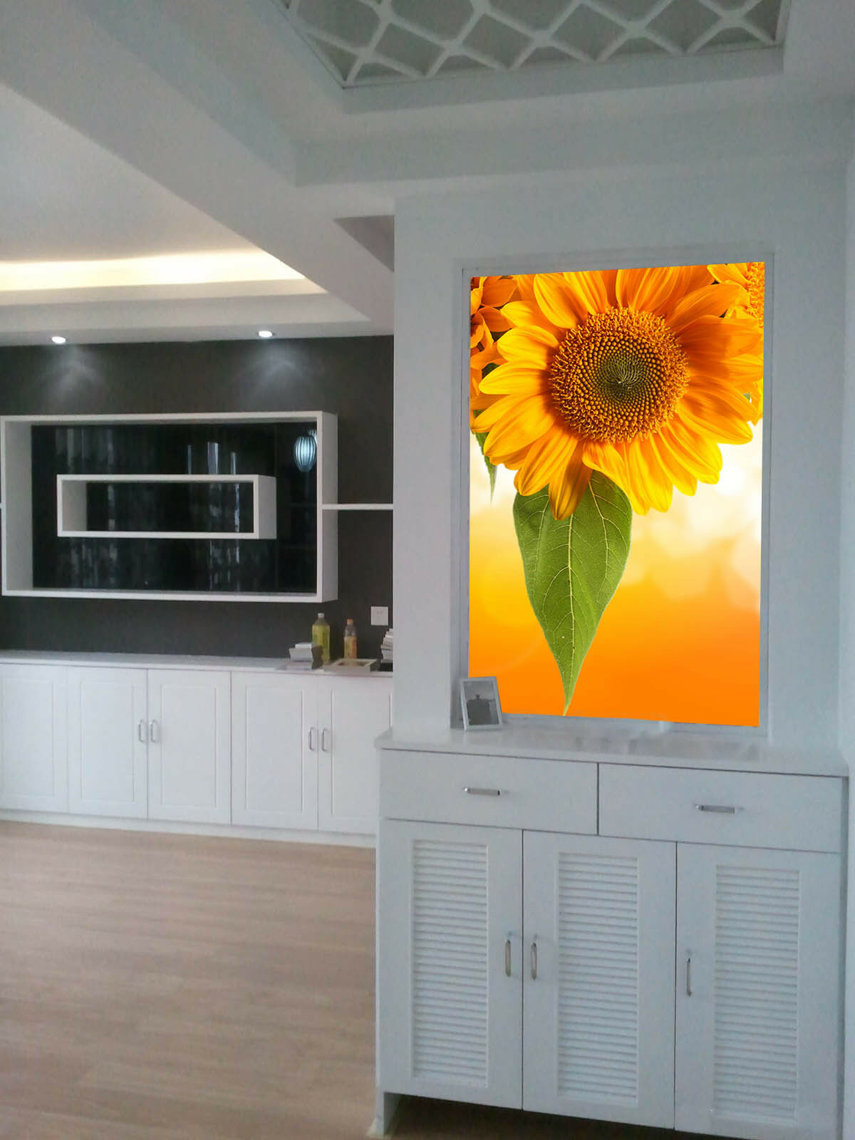 3D Sunflower 467 Wallpaper Murals Wall Print Wall Mural AJ WALL AU Lemon