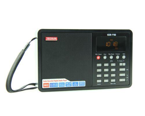 RECORDER /& MP3 PLAYER /</< NO BATTERY />/> black AM//FM RADIO TECSUN ICR-110