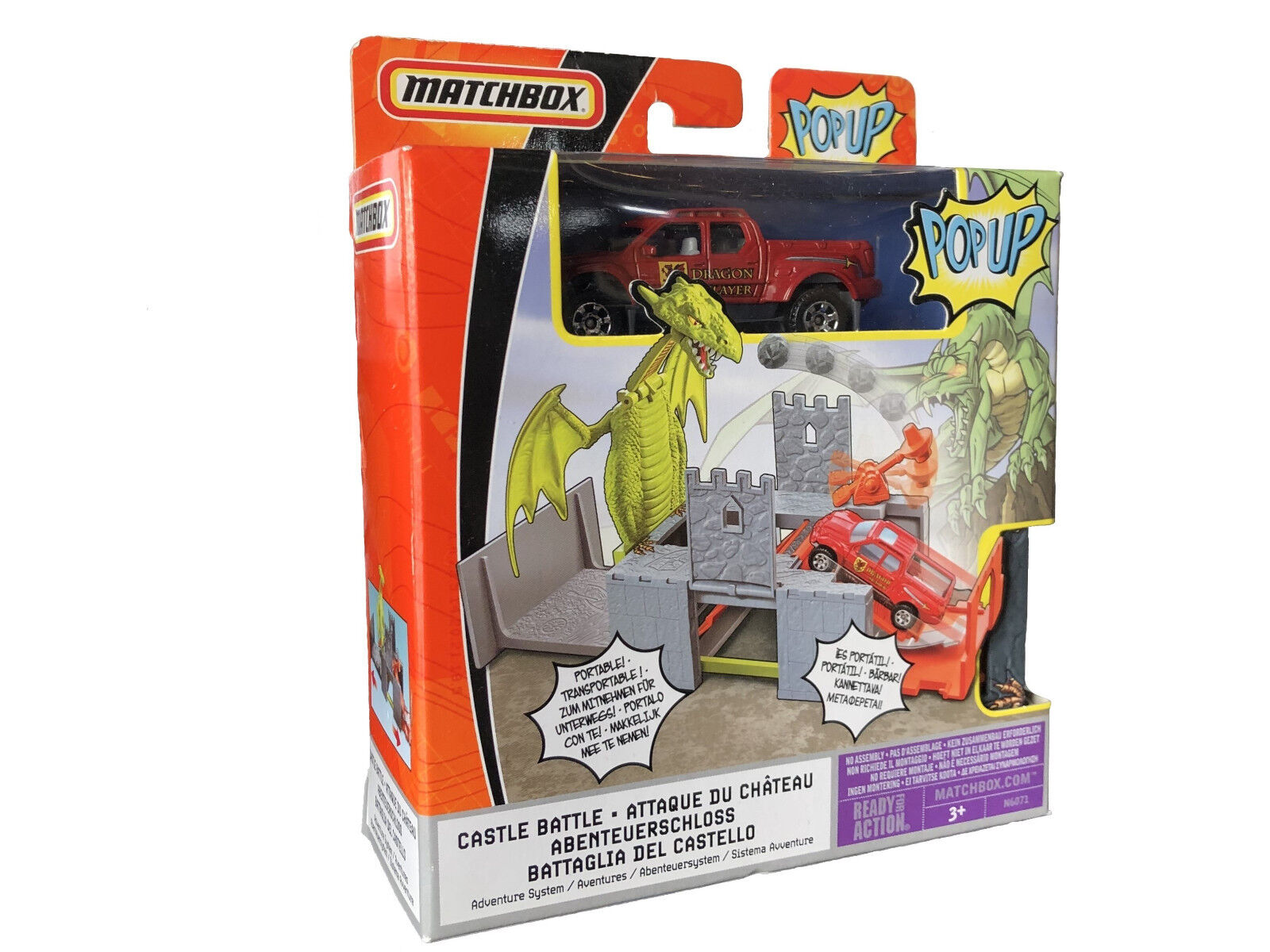 MATTEL Matchbox Popup Castle Battle the Dragen Adventure System Set  New RARE