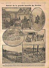 Bataille de Verdun Poilus Soupes Tranchées Ambulance Croix Rouge Truck WWI 1916