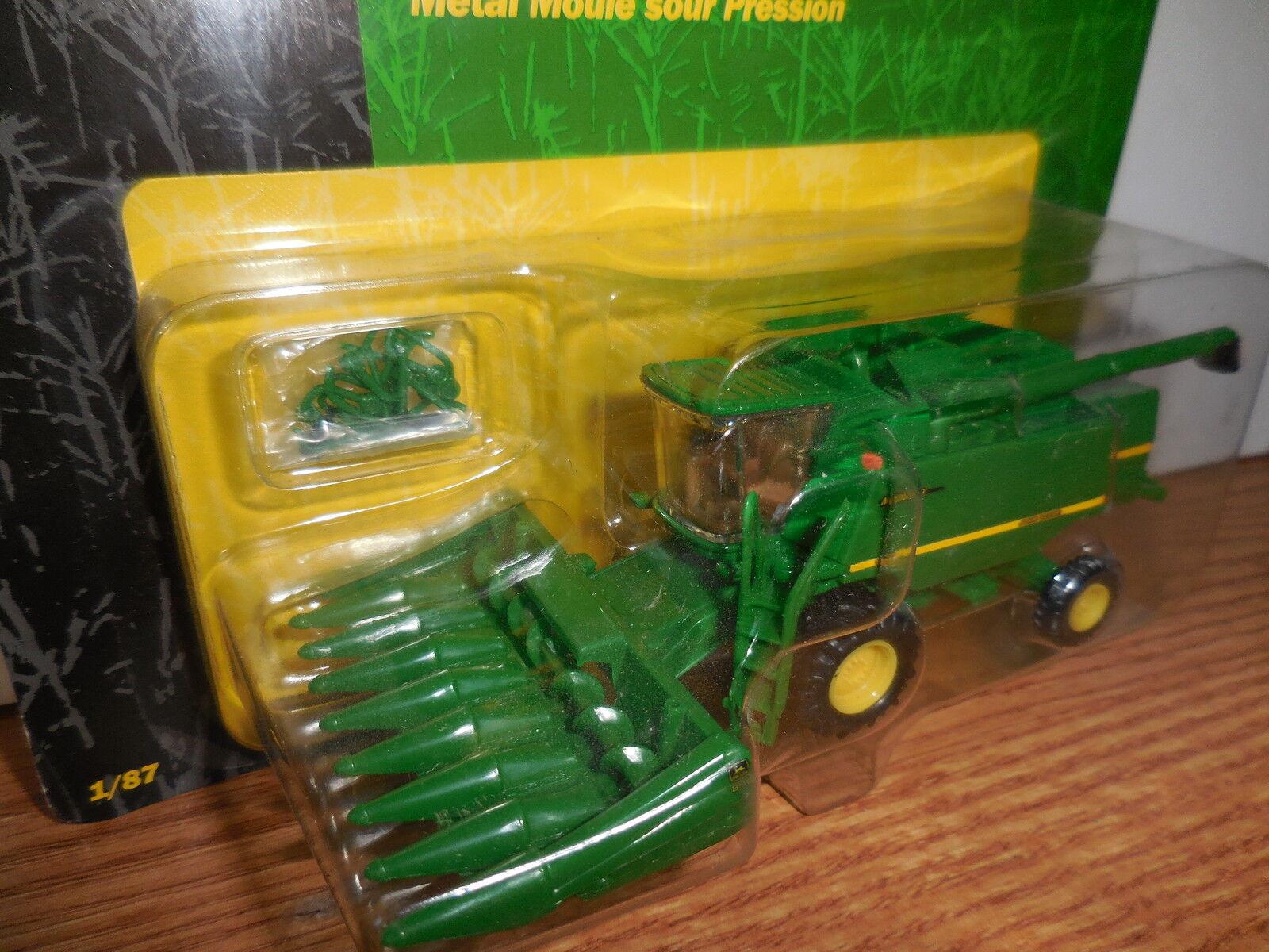 Ertl 1 87 Ho John Deere 9510 en combinación con 8 fila encabezado de maíz Juguete De Colección Nuevo en Paquete