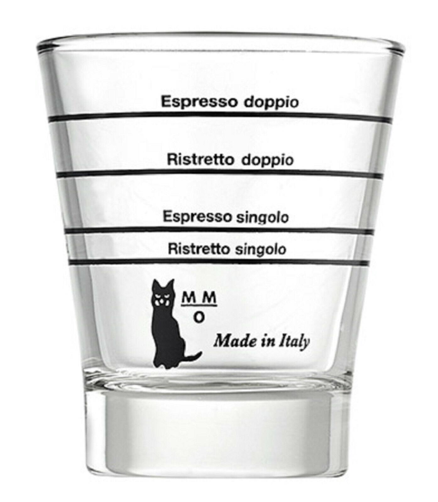 rund 1 St Motta Shotglas,Baristaglas,Espressoglas,Espresso,Messbecher mit Skala