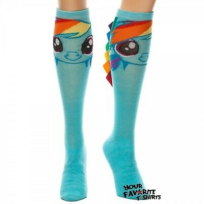 My Little Pony Rainbow Dash Face Cute MLP Licensed Knee High Socks