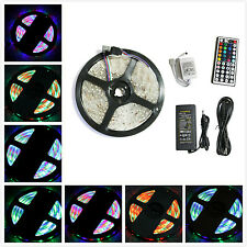 5M 16.4ft SMD RGB 3528 IP65 Waterproof 300 LED Strip Light 44 Key Remote + Power