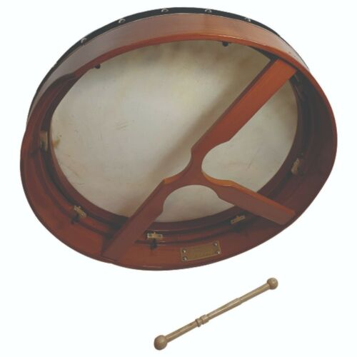 18/'/' Mahogany Tunable Bodhran With Beater and Free Upgraded Padded Case