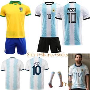 dd1fb8ee8 19-20 Football Kid Boy Short Sleeve Full Kit Youth Jersey Strips ...