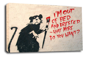 BANKSY-Art-Picture-Graffiti-Rat-Student-Hope-Peace-Abstract-Canvas-Wall-Print