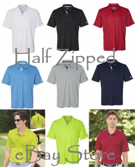 1ee32410c5aa4 Adidas Mens Golf Gradient 3-Stripes Polo Sport Shirt A206 S-3XL 6 Colors NEW
