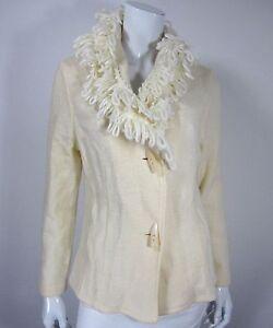 taglia A Small cardigan lunghe S maglione Giannetti Giacca a Ivory Solid maniche w0C1Owq