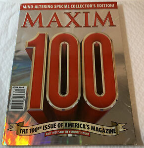 Maxim Magazine - April 2006 100th issue - features listed