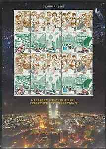 249S-MALAYSIA-2000-CELEBRATE-THE-NEW-MILLENNIUM-II-SHEETLET-FRESH-MNH