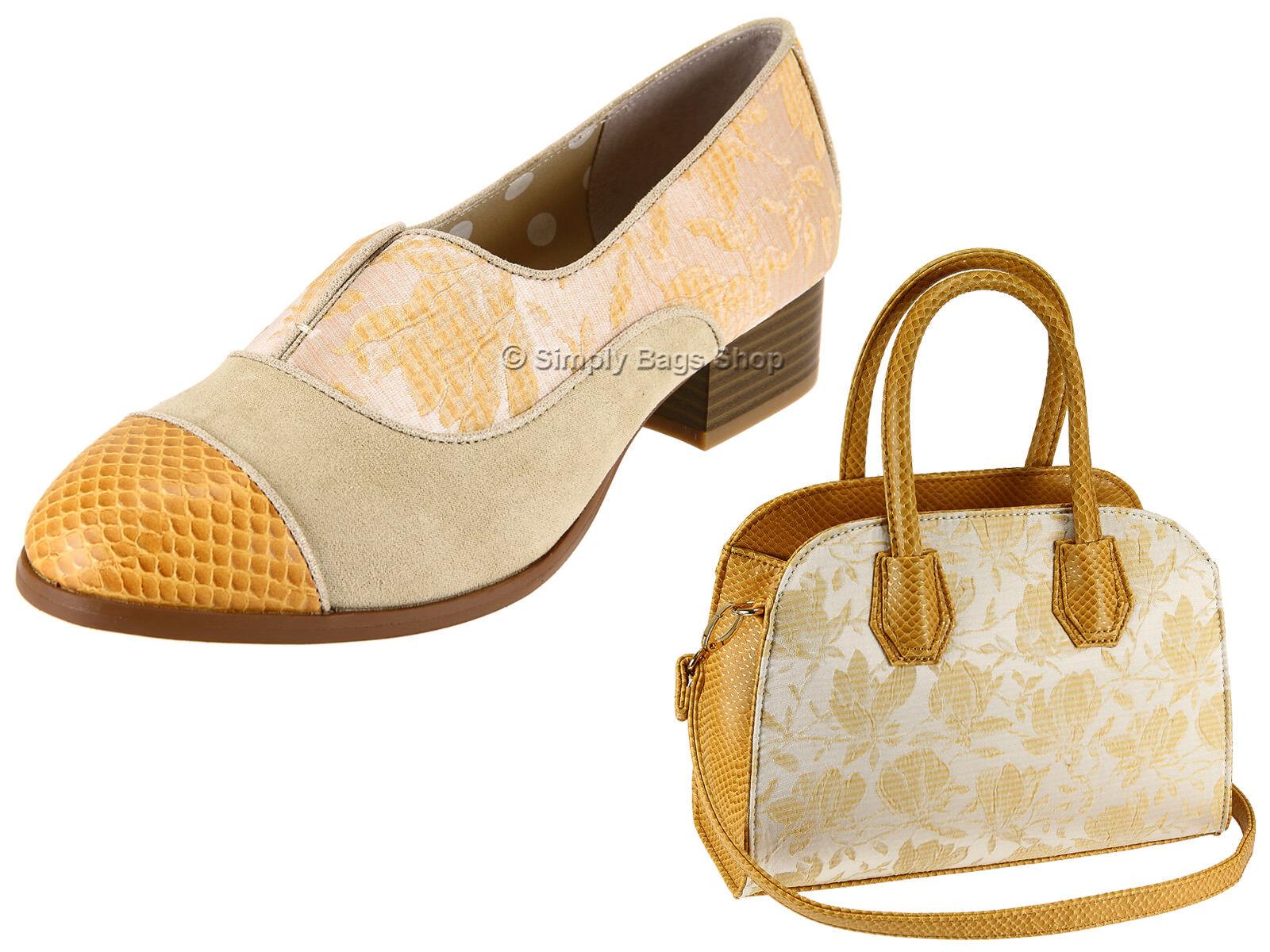 Ruby Shoo Ladies Vegan Low Heel Slip On Loafer Shoes - Add Matching Bag Cancun