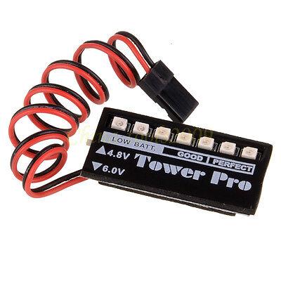 RC Model 4.8V 6.0V LED Receiver Battery Futaba Low voltage Checker Indicator