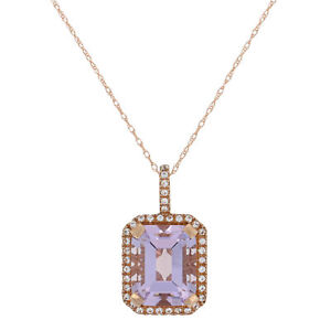 4.20CT Halo Blue Sapphire Double Heart Gemstone Pendant /& Necklace14K White Gold