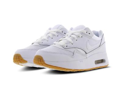 Infants BoysGirls Nike Air Max 1 (PS) WhiteGum Leather Trainers 807603 101 | eBay