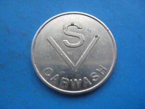 (F) S V CAR WASH  SILVER COLOURED TOKEN COIN
