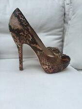 Lk Bennett Peep Toe Heels , Rose Crock Leather , Platform , 36, 3