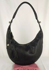 "Radley ""Compton"" Black Soft Leather Hobo Shoulder Bag Small-Medium Used"