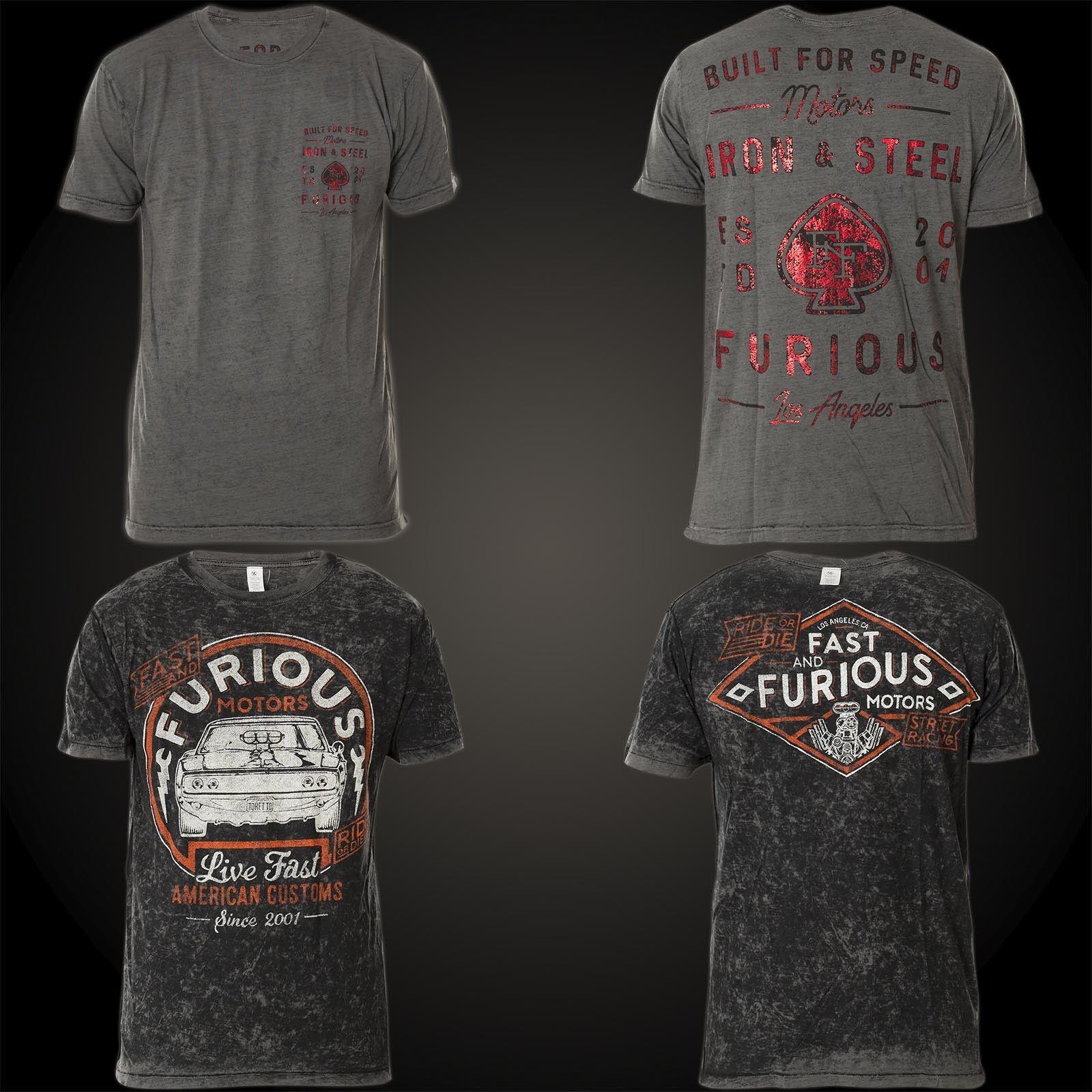 AFFLICTION Fast & Furious T-Shirt ESTD 2001 Rev. Grau T-Shirts  | Gewinnen Sie das Lob der Kunden