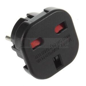 reise adapter stecker stromadapter uk de schuko england auf deutschland 3 2 pin ebay. Black Bedroom Furniture Sets. Home Design Ideas