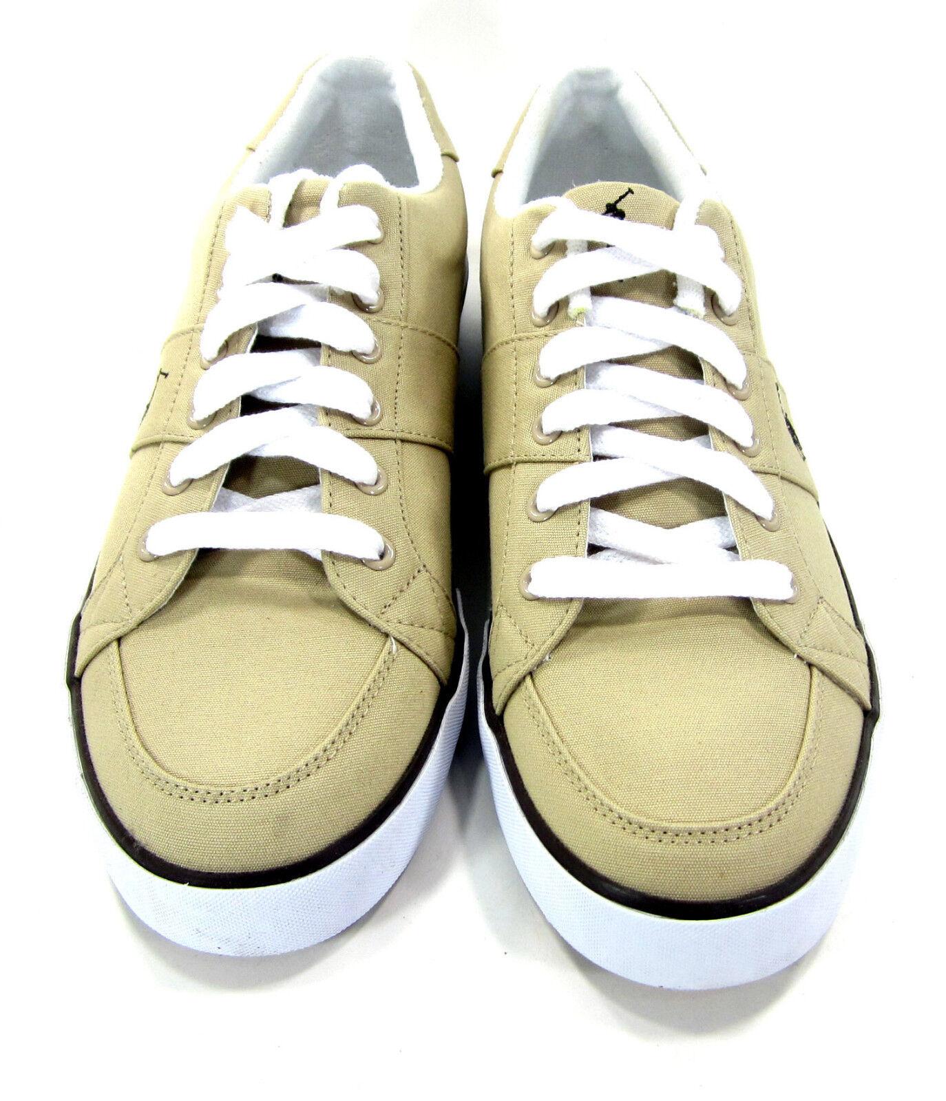 Polo Ralph Lauren Schuhes Harold Größe Canvas Khaki Tan Sneakers Größe Harold 12 a0cf3a