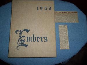 1959-WAYNE-TOWNSHIP-HIGH-SCHOOL-YEARBOOK-WAYNE-NJ-NEW-JERSEY-KNOWN-AS-EMBERS