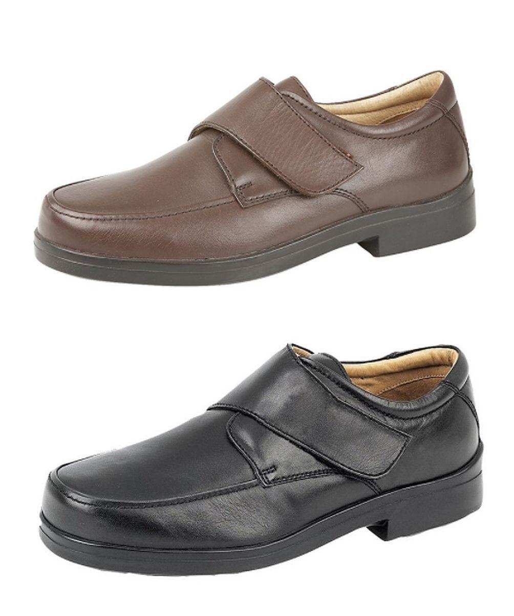 Da Uomo in Pelle XXX leggera EXTRA molto ampia vestibilità leggera XXX Cinturino Scarpe Nero Marrone taglia 6-14 1f5f9d