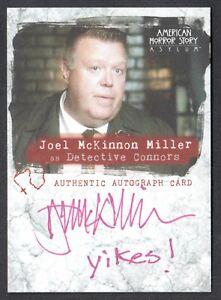 Details about AMERICAN HORROR STORY ASYLUM SDCC AUTOGRAPH CARD AJMS JOEL  McKINNON MILLER 25/50