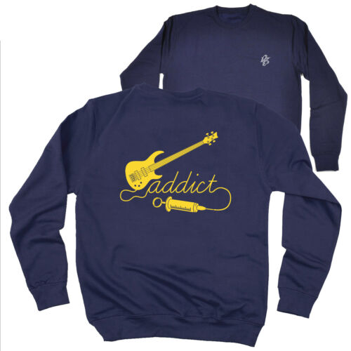 FB Music Sweatshirt Bass Addict Novelty Birthday Christmas Gift Sweater Jumper