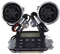 Motorcycle Handlebar Mount Audio Radio Mp3 Speaker Aux Input For Honda Cruisers on Sale