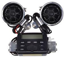 Motorcycle Handlebar Mount Audio Radio MP3 Speaker AUX input For Honda Cruisers