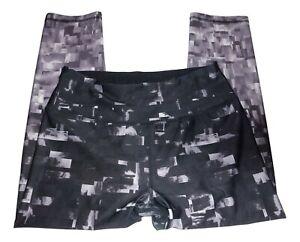 RBX-Womens-Size-M-Purple-Black-Cropped-Capri-Yoga-Gym-Work-Out-Leggings-Pants