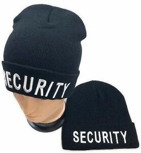 Image is loading SECURITY-Guard-Hat-Law-Enforcement-Officer-winter-Beanie- 8c69d4c7ef4