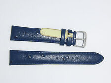"DI-Modell Genuine Calf Leather Ostrich Grain 18 mm NAVY Watch Band ""TIVOLI"""