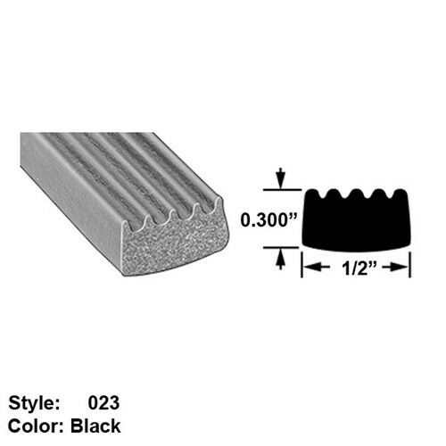 Water Weather Resistant Foam Rubber Surface Mount Seal, Ht 0.300  x Wd 1 2