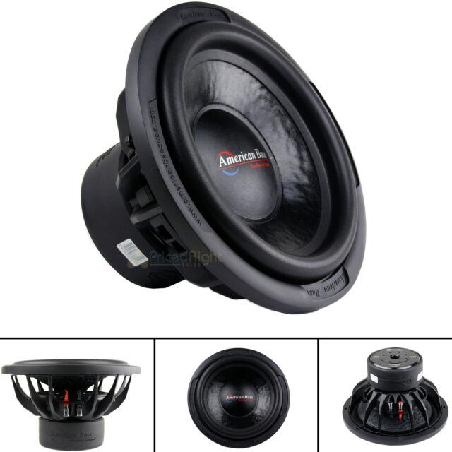 "Subwoofer 10/"" Car Audio 900W American Bass Dual 4 Ohm Voice Coil 150oz Magnet"