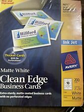 Avery 2 X 3 12 Clean Edge 2 Sided Inkjet Printable Business Cards 200 Pk