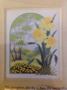 4-Daffodil-Woodland-Scene-cross-stitch-chart