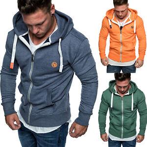 Angemessen Herren Zipper Kapuzenpullover Sweatjacke Pullover Hoodie Sweatshirt 1-04029 Modischer (In) Stil;