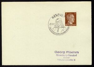 Allemagne-n-706-Yv-cachet-WW2-RENCHEN-Timbre-Allemand-Hitler-Mi-n-782