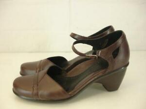 Womens-7-5-8-sz-38-Dansko-Roxy-Burgundy-Ankle-Strap-Shoes-Pumps-Block-Heel-Clogs