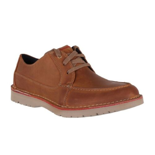 Men/'s Clarks VARGO VIBE 26144813 Dark Tan Leather Casual Lace-Up Oxford Shoes