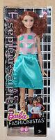Barbie Fashionistas Glam Party Mit Petrolfarbenen Kleid Dmf31 Neu/ovp Puppe