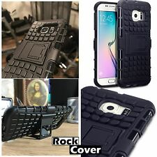 Samsung Galaxy S6 EDGE PLUS! Rugged Case Tech 2 Military Armour Rock Cover Black