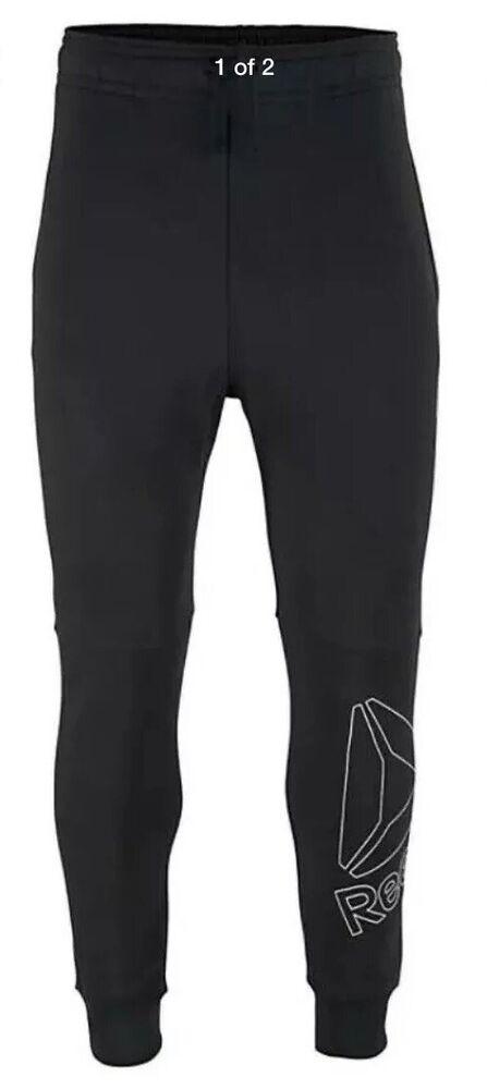 28# Reebok Grand Logo Pantalons De Jogging Taille 2xl Rrp £ 40.00